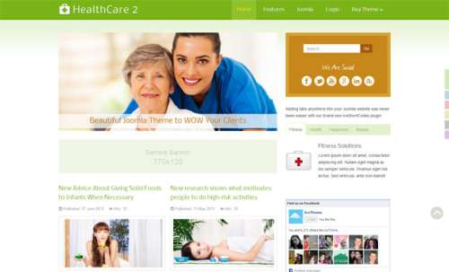 Шаблон Joomla IT HealthCare 2