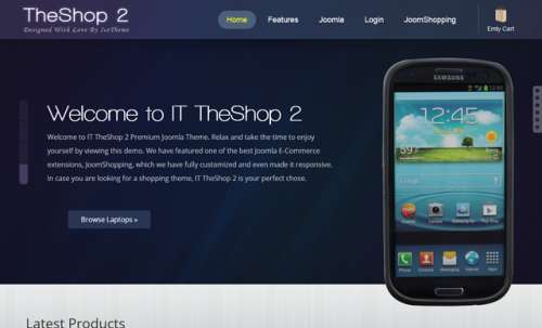 Шаблон Joomla IT TheShop 2
