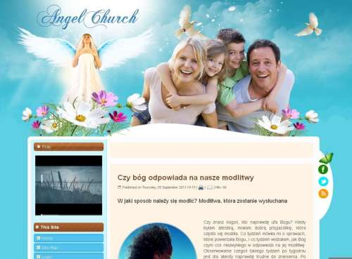 Шаблон Joomla Angel Church