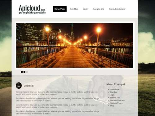 Шаблон Joomla Apicloud Black